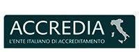 Accredia-Logo, Italienische Akkreditierungsstelle