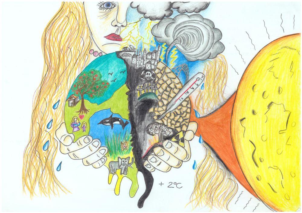 Gewinner-Zeichnung, Bild Platz 1, 10 bis 12 Jahre, Umwelt-Zeichnungswettbewerb 2018