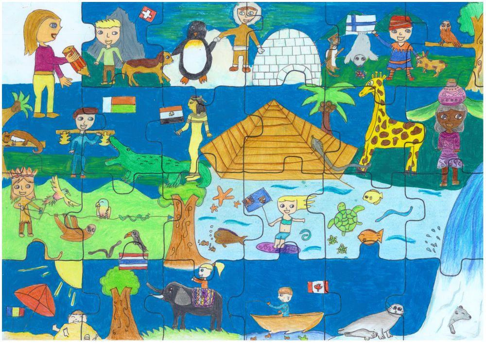 Gewinner-Zeichnung, Bild Platz 2, 10 bis 12 Jahre, Umwelt-Zeichnungswettbewerb 2018