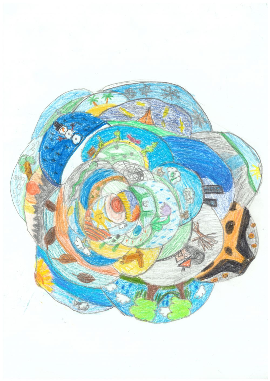 Gewinner-Zeichnung, Bild Platz 3, 10 bis 12 Jahre, Umwelt-Zeichnungswettbewerb 2018