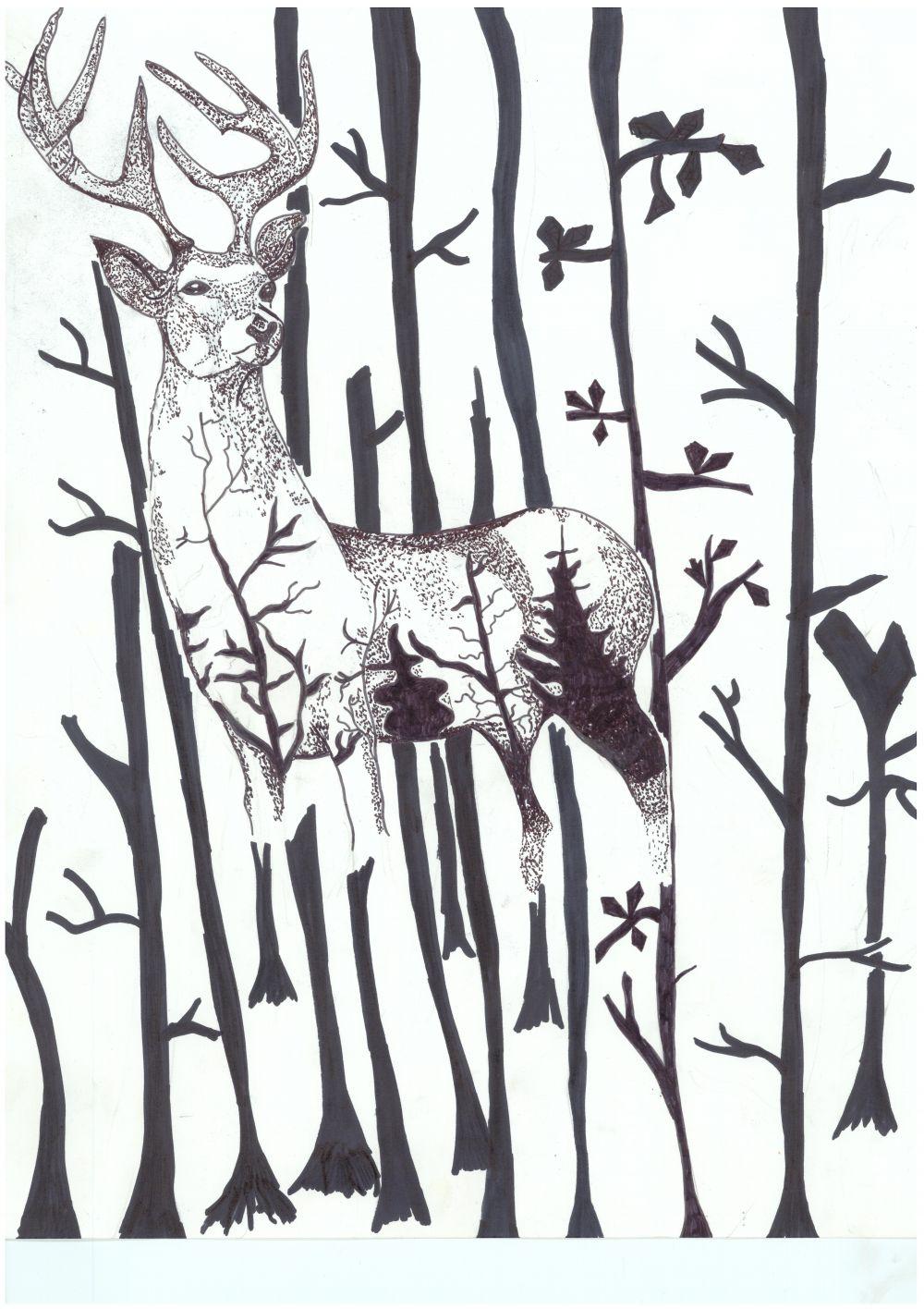 Gewinner-Zeichnung, Bild Platz 3, 13 bis 16 Jahre, Umwelt-Zeichnungswettbewerb 2018