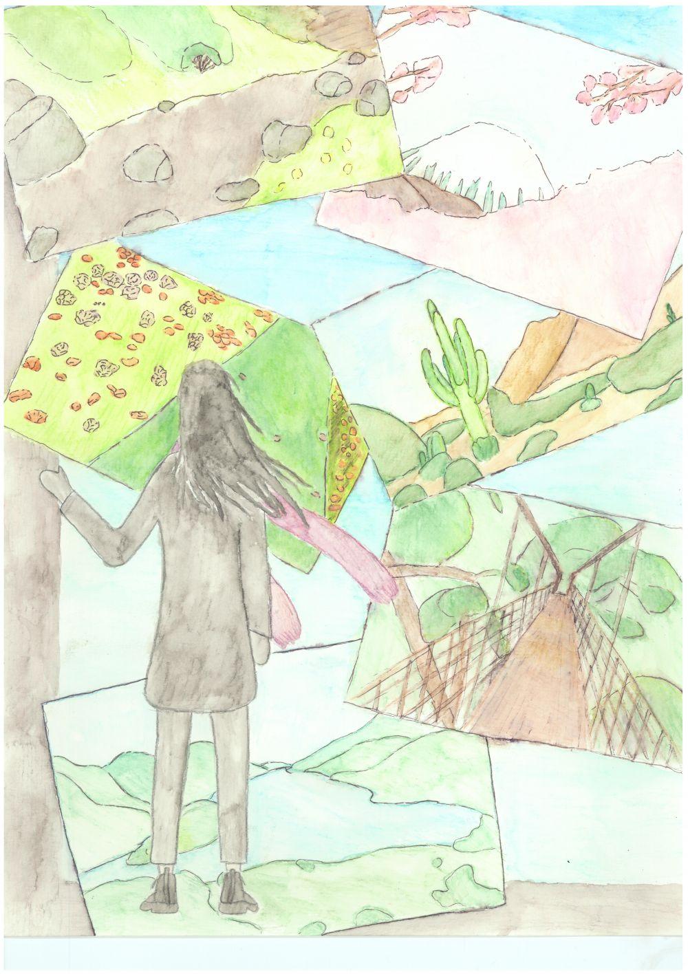 Gewinner-Zeichnung, Bild Sonderpreis GVB, 13 bis 16 Jahre, Umwelt-Zeichnungswettbewerb 2018