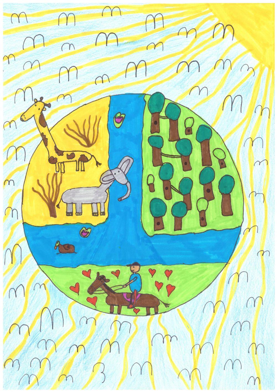 Gewinner-Zeichnung, Bild Sonderpreis Sarasin, 10 bis 12 Jahre, Umwelt-Zeichnungswettbewerb 2018