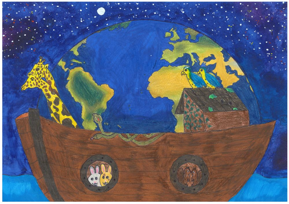 Gewinner-Zeichnung, Bild Sonderpreis Sarasin, 13 bis 16 Jahre, Umwelt-Zeichnungswettbewerb 2018