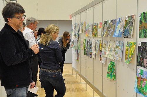 Jurierung, Thema Biologische Vielfalt, Umwelt-Zeichnungswettbewerb 2019