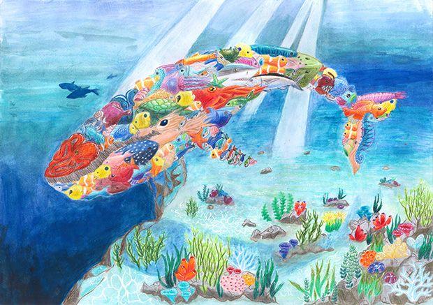 Gewinner-Zeichnung, Bild Platz 1, 13 bis 16 Jahre, Umwelt-Zeichnungswettbewerb 2018