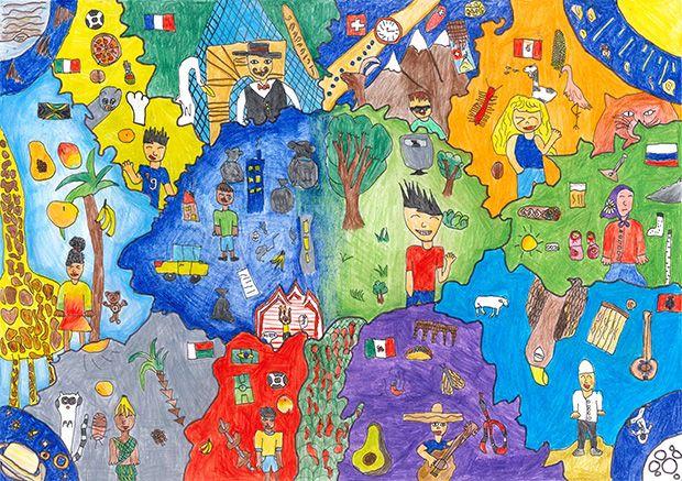 Gewinner-Zeichnung, Bild Platz 1, 6 bis 9 Jahre, Umwelt-Zeichnungswettbewerb 2018