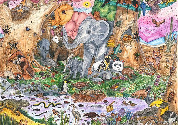 Gewinner-Zeichnung, Bild Platz 2, 13 bis 16 Jahre, Umwelt-Zeichnungswettbewerb 2019