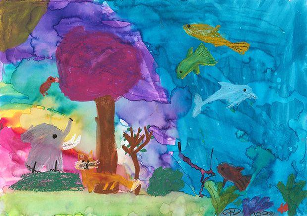 Gewinner-Zeichnung, Bild Platz 2, 6 bis 9 Jahre, Umwelt-Zeichnungswettbewerb 2019