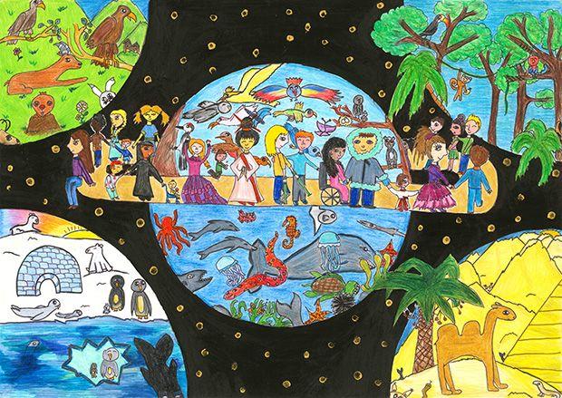 Gewinner-Zeichnung, Bild Platz 3, 10 bis 12 Jahre, Umwelt-Zeichnungswettbewerb 2019