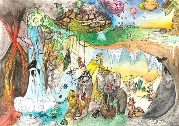 Gewinner-Zeichnung, Bild Platz 3, 13 bis 16 Jahre, Umwelt-Zeichnungswettbewerb 2019