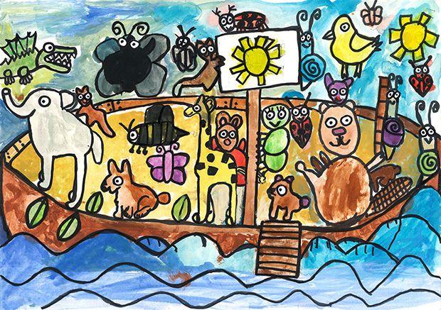 Gewinner-Zeichnung, Bild Sonderpreis Forum Biodiversität, 6 bis 9 Jahre, Umwelt-Zeichnungswettbewerb 2019