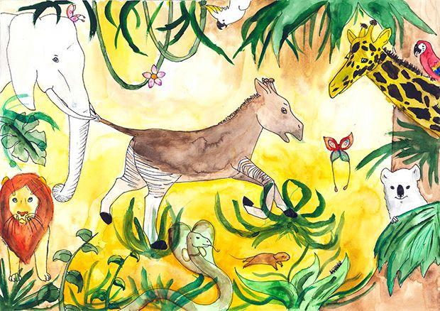 Gewinner-Zeichnung, Bild Sonderpreis GVB, 10 bis 12 Jahre, Umwelt-Zeichnungswettbewerb 2019