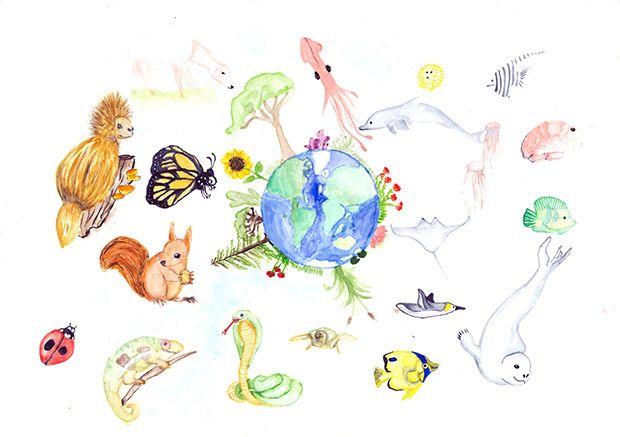 Gewinner-Zeichnung, Bild Sonderpreis Sarasin, 10 bis 12 Jahre, Umwelt-Zeichnungswettbewerb 2019