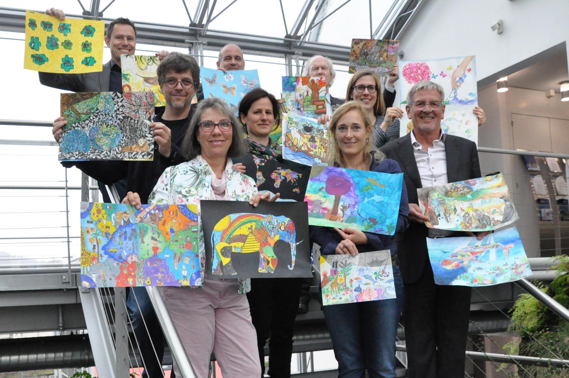 Jury, Thema Biologische Vielfalt, Umwelt-Zeichnungswettbewerb 2019