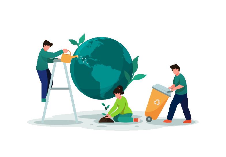 Gesunde und saubere Erde, Circular Globe